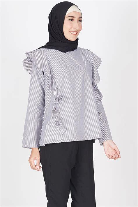 Baju Hijabers Trendi Amiya Top Black sell alisa top black tops hijabenka