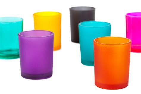 Wholesale Vases For Wedding Colored Glass Votive Candle Holders