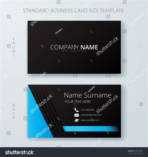 name card design template vector business card name card template modern stock vector