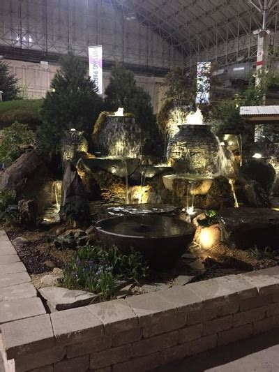 aquascape chicago pond squad fountain display chicago flower garden show