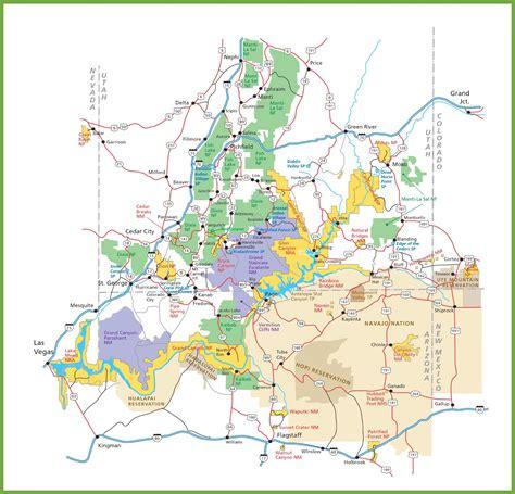 utah national parks map utah national parks map map3