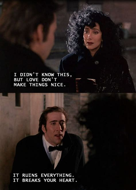 movie nicolas cage and cher moonstruck love breaks your heart cher nicholas cage