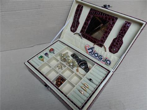Kotak Tempat Perhiasan Pink Accesories Pink Muda New Jewelry Box exclusive jewelry boxes croco motif tempat perhiasan dan