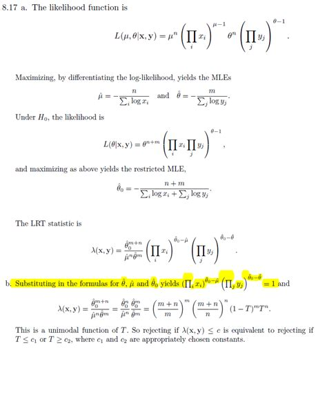 likelihood ratio test self study problem with generalized likelihood ratio