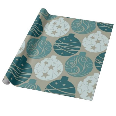 elegant vintage christmas ornaments wrapping paper zazzle
