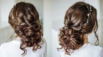 Wedding Hairstyles For Brown Hair by Easy Wedding Hairstyle For Medium Hair