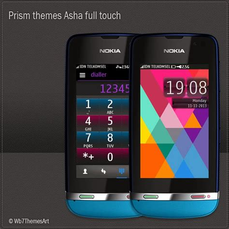 nokia asha all themes prism themes for nokia asha full touch asha 311 asha 305