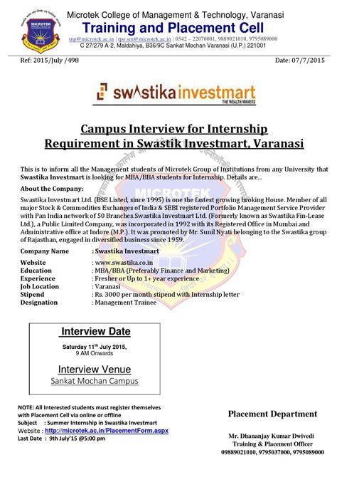 Sebi Internship Mba by Swastika Investmart By Microtek Issuu