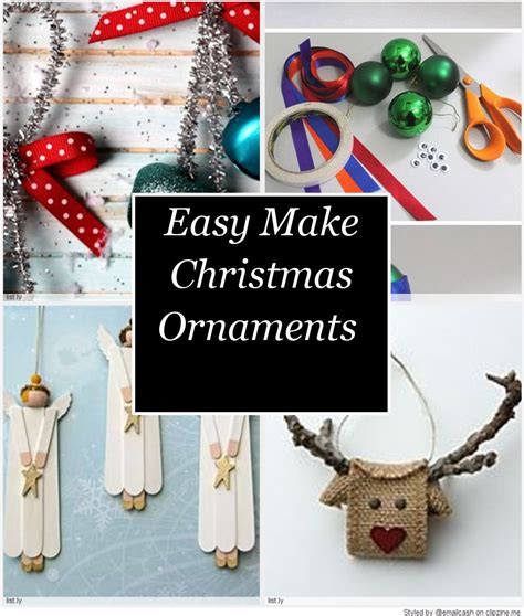 how to make christmas decorations at home easy easy make christmas ornaments