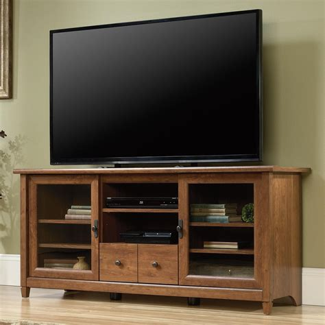 tv credenza sauder edge water 418978 2 door entertainment credenza