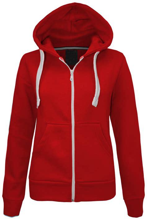 Jacket Sweater Hoodies 6 new womens plain zip hoodie sweatshirt fleece hooded jacket top size 6 20 ebay