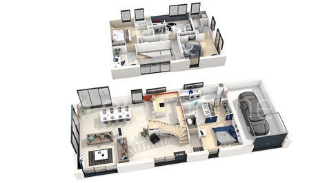 Plan De Maison Moderne 3d by Plan Maison Etage 3d