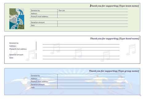 Charity Receipt Template by Template Donation Receipt Studio Design Gallery