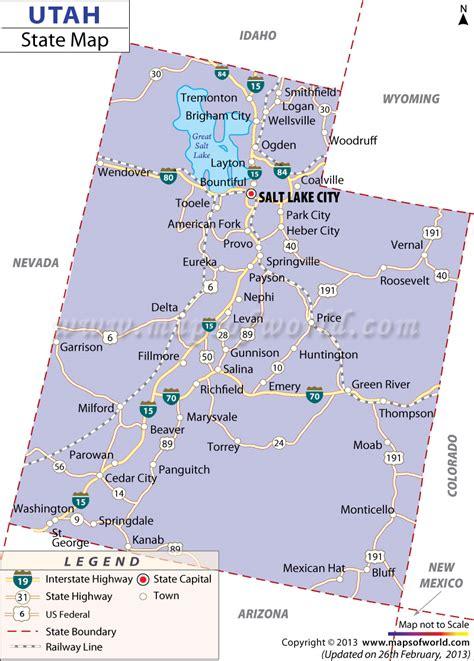 map of utah cities utah map free large images