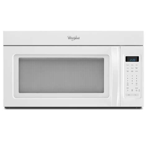 over the range fan whirlpool wmh31017aw white 30 in over the range microwave