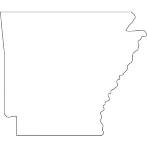 Arkansas County Outline Map by Arkansas Outline Map Polyvore