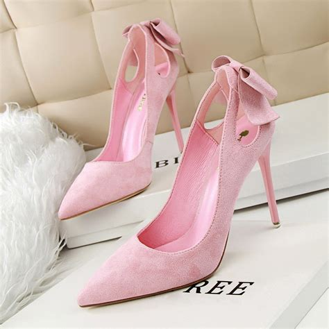 Pretty Heels For Summer by New Summer Pumps Sweet Bow Thin High Heels