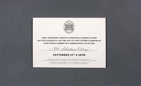 Fashion Show Invitation Card Design