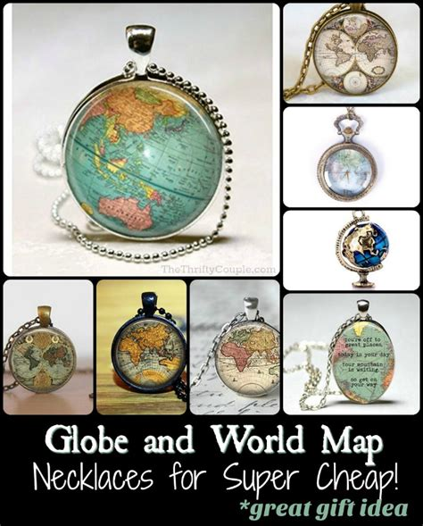 Great Gifts For A With Wanderlust by Wanderlust Globe And World Map Necklaces As Low As 2 50