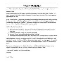 Assistant Cover Letter by Leading Professional Store Administrative Assistant Cover Letter Exles Resources