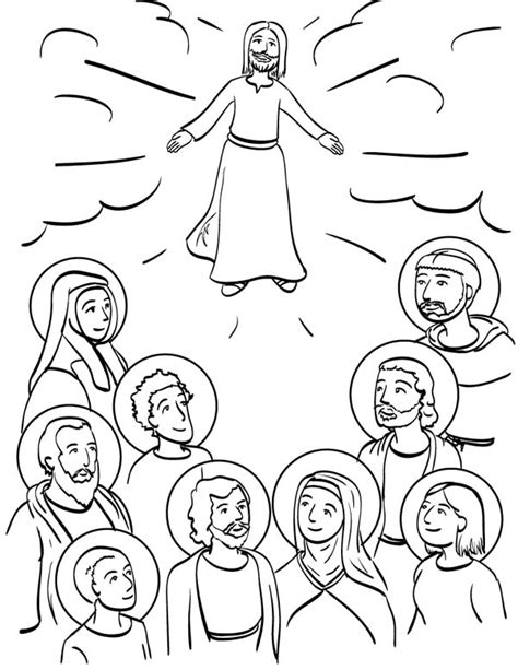 printable coloring pages for all saints day catholic all saints day clip art 47