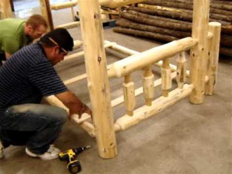 log furniture store  bunk bed assembly youtube