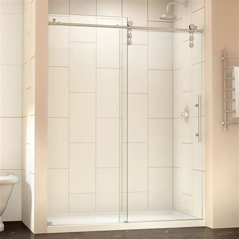 48 frameless shower door dreamline enigma z 44 in to 48 in x 76 in frameless
