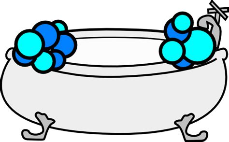 clip art bathtub bathtub with bubbles clip art at clker com vector clip