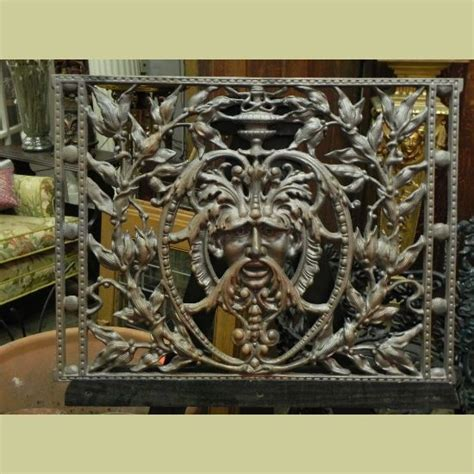 quot green man quot cast iron panel new architectural