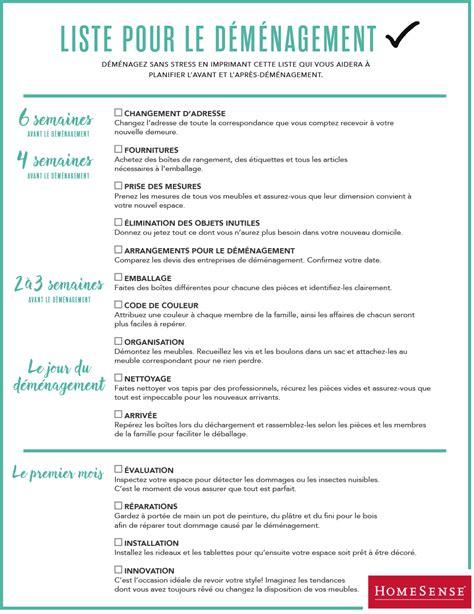 To Do List Demenagement by Liste De Contr 244 Le Pour D 233 M 233 Nager Demenagement Astuces