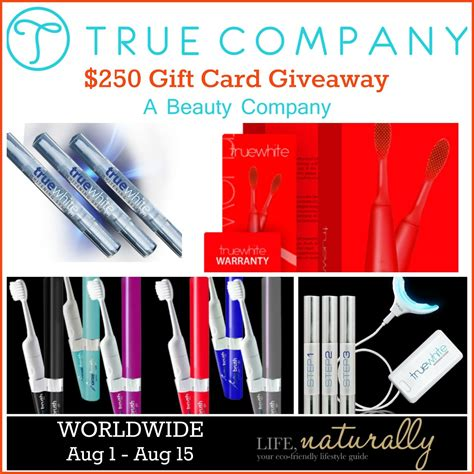 Gift Card Companies - true company 250 gift card giveaway 8 15