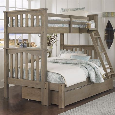 wood twin over full bunk bed highlands harper twin over full bunk bed free shipping