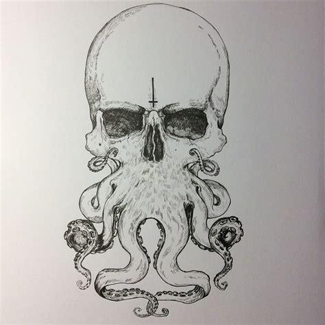 drawing skull octopus art on instagram