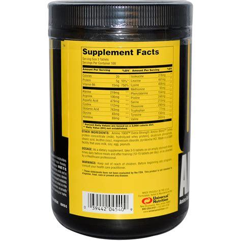 Suplemen Amino universal nutrition amino 1900 amino acid supplement