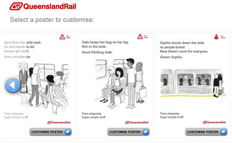 Queensland Rail Memes - customiseable posters queensland rail etiquette posters
