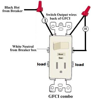 outlet switch combo wiring diagram efcaviation com