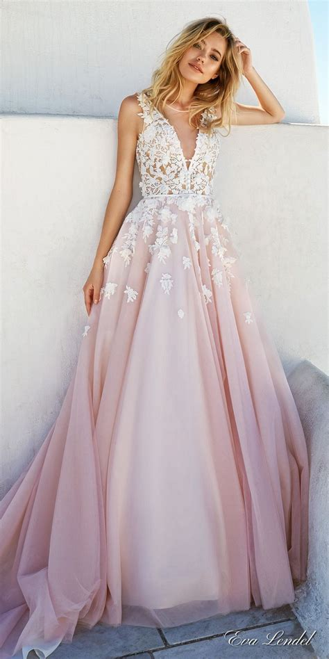 Colored Wedding Gown by 25 Best Ideas About Blush Wedding Dresses On