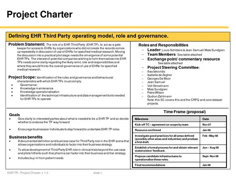 project charter template free best photos of one page project charter project charter