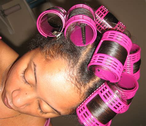 how to put rollersin extra short hair roller set sham i am glam