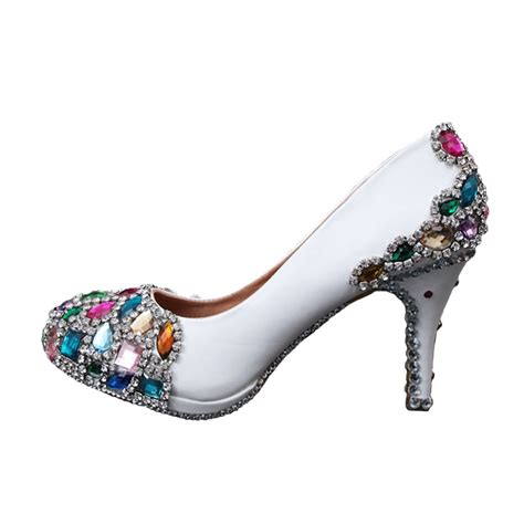 Shoe Bling by Luxurious Wedding Shoes White Swarovski Bling
