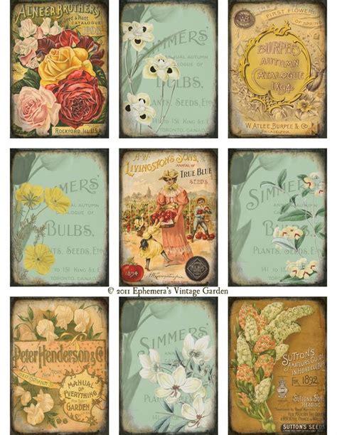 printable garden images 86 best ephemera s vintage garden images on pinterest