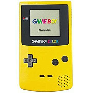 yellow gameboy color dandelion boy color system yellow nintendo handheld