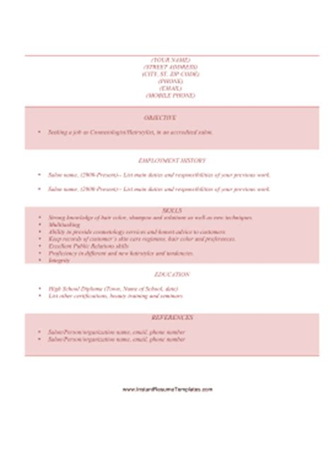 cosmetology instructor resume sles sle essay responses and reader commentary resume for