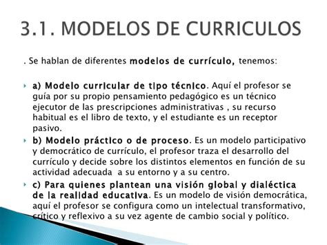 Definicion De Modelo Curricular Didactica General 1