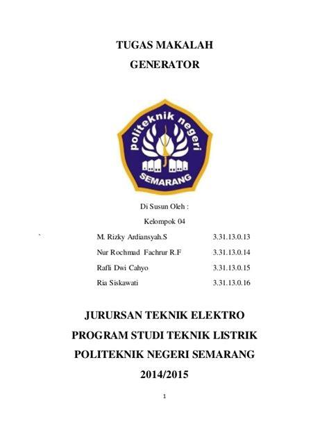 makalah membuat generator sederhana makalah generator kelompok 04