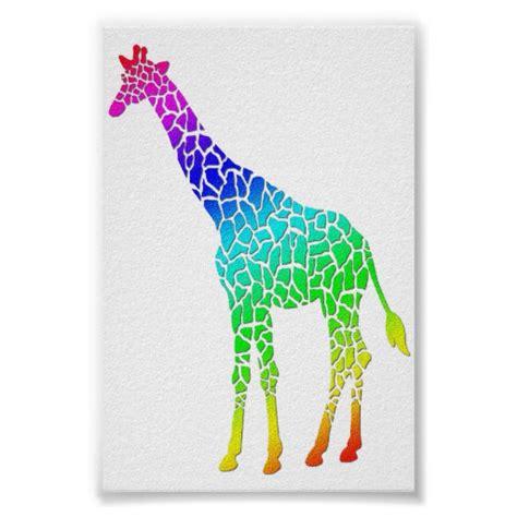 printable giraffe poster colorful giraffe print