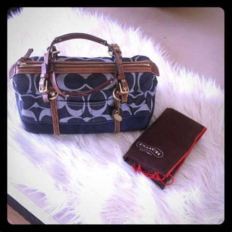 Authentic Coach Speedy New 43 Coach Handbags Brand New Denim Authentic Coach