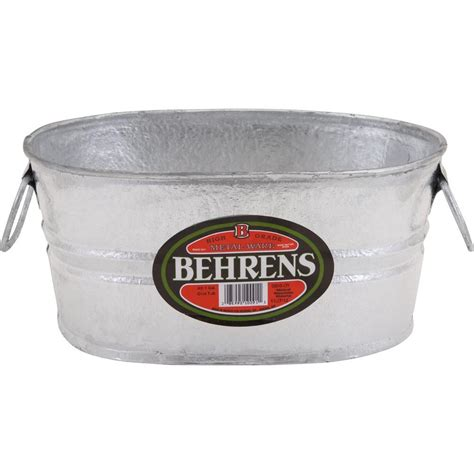 tubs at home depot behrens 1 gal dipped steel oval tub 0000ovx the
