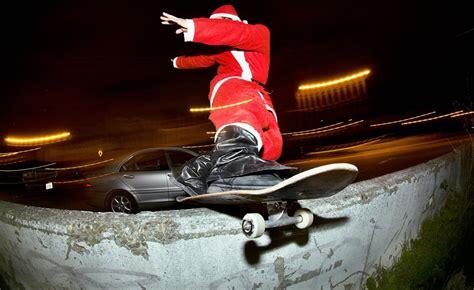 santa  skateboard hd happy  year wallpapers  mobile  desktop