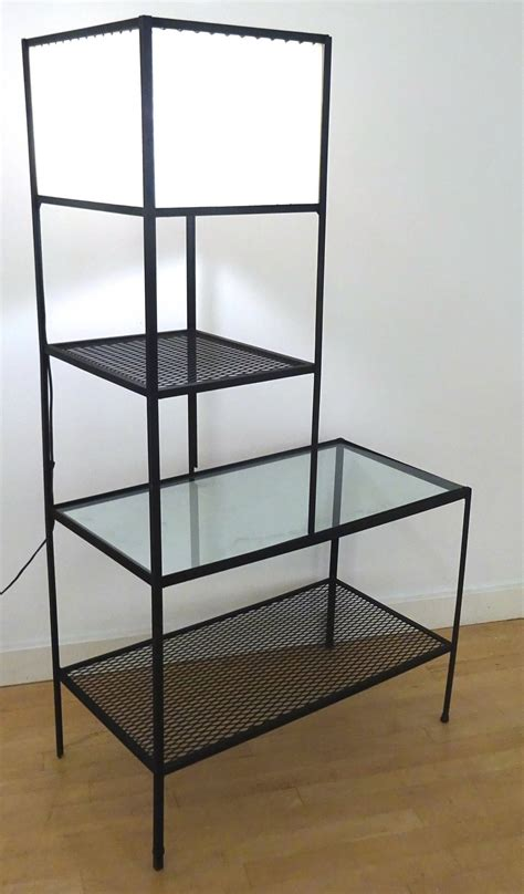 Iron Floor L Architectural 1950s Frederick Weinberg Iron Floor Table L For Sale At 1stdibs